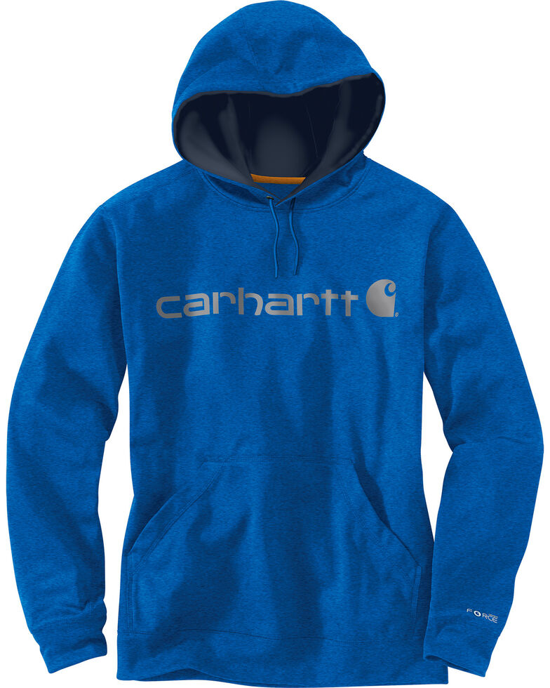 Carhartt Men's Dark Blue Force Extremes™ Signature Graphic Hooded Sweatshirt - Big and Tall, Dark Blue, hi-res
