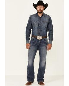 Cody James Men's Overo Medium Wash Rigid Relaxed Bootcut Jeans , Blue, hi-res