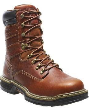 "Wolverine Men's Raider 8"" EH Work Boots - Steel Toe, Brown, hi-res"