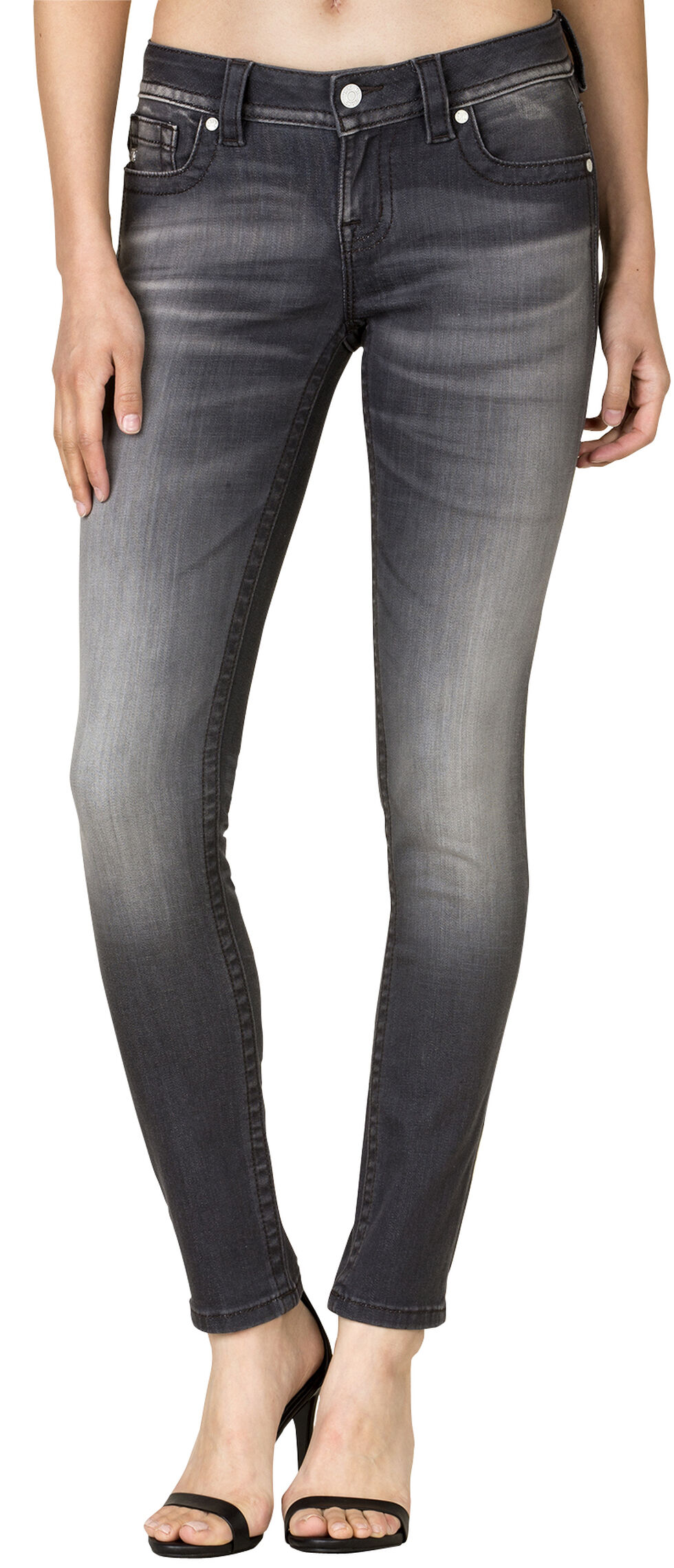 Miss Me Women's Grey City Mid-Rise Skinny Jeans, Grey, hi-res