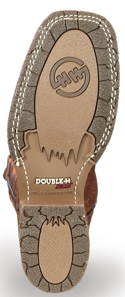 Double H Men's Domestic ICE Roper Boots - Steel Toe, Brown, hi-res