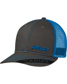 Ariat Men's Offset Baseball Cap , Blue, hi-res