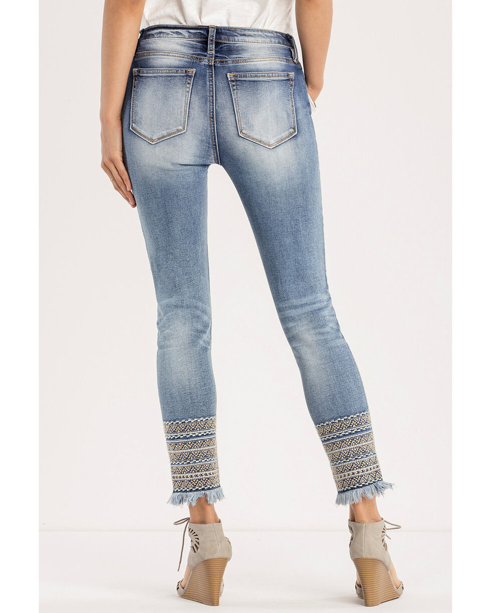 Miss Me Women's A Groove Thang Mid-Rise Ankle Skinny Jeans, Indigo, hi-res