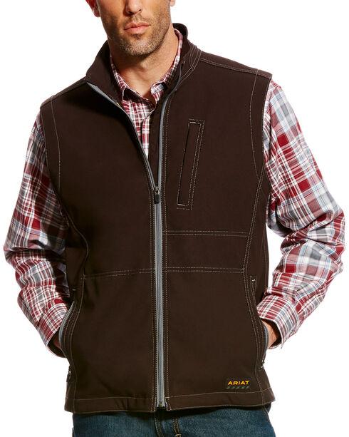 Ariat Men's Rebar Canvas Softshell Vest , Black, hi-res