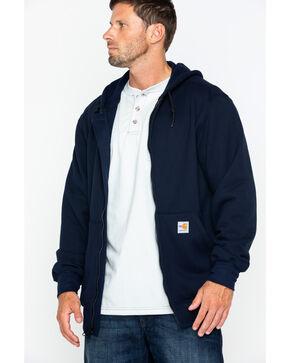 Carhartt Men's Zip-Front Heavyweight FR Work Jacket - Big & Tall , Navy, hi-res