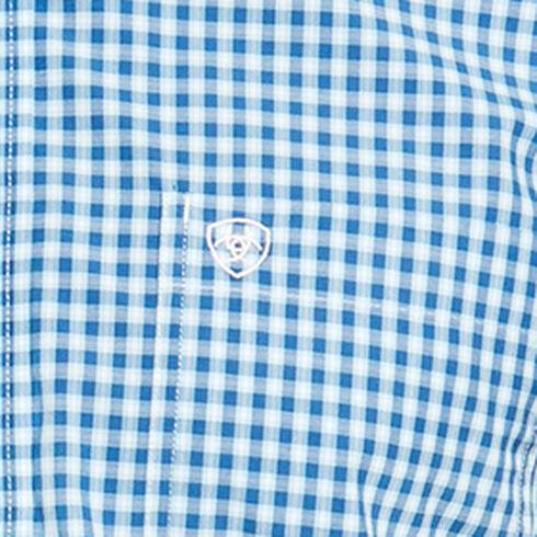 Ariat Men's Blue Mankins Short Sleeve Shirt - Big and Tall , Blue, hi-res