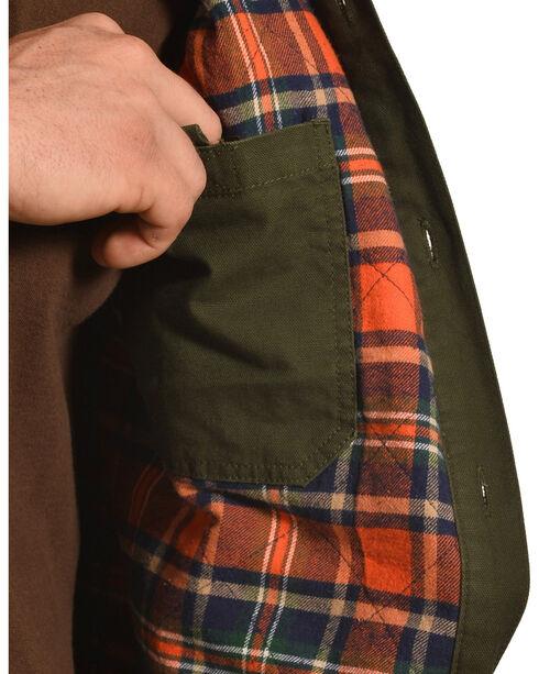 American Worker Men's Moss Diligent Canvas Shirt Jacket , Moss Green, hi-res