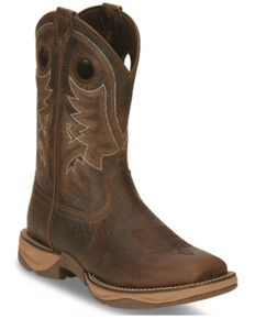 Tony Lama Men's Rasp Western Boots - Wide Square Toe, Brown, hi-res