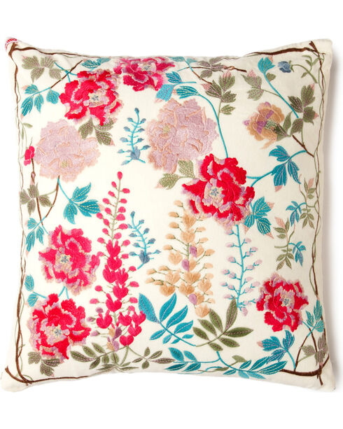Johnny Was Viney Embroidered Pillow , , hi-res