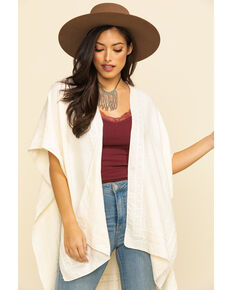 Shyanne Women's Cream Embroidery Shawl , Ivory, hi-res