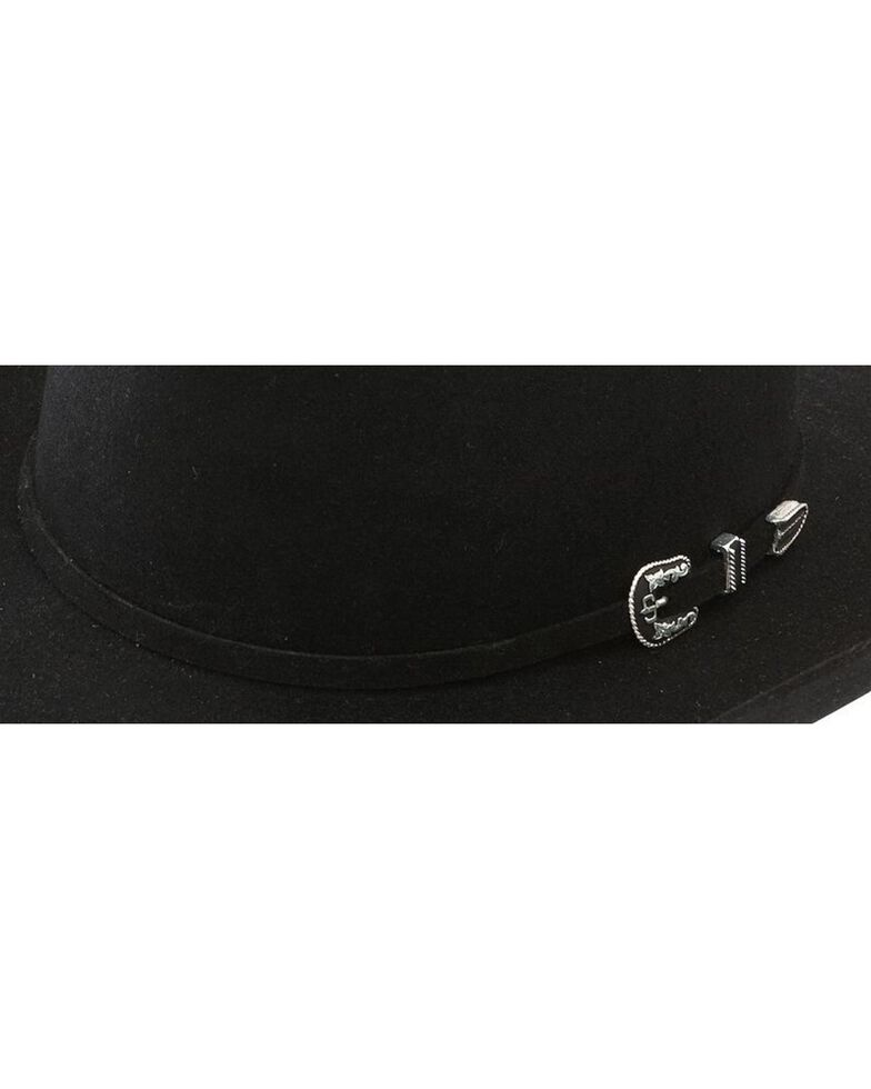 Stetson Men's 6X Skyline Black Fur Felt Cowboy Hat, Black, hi-res