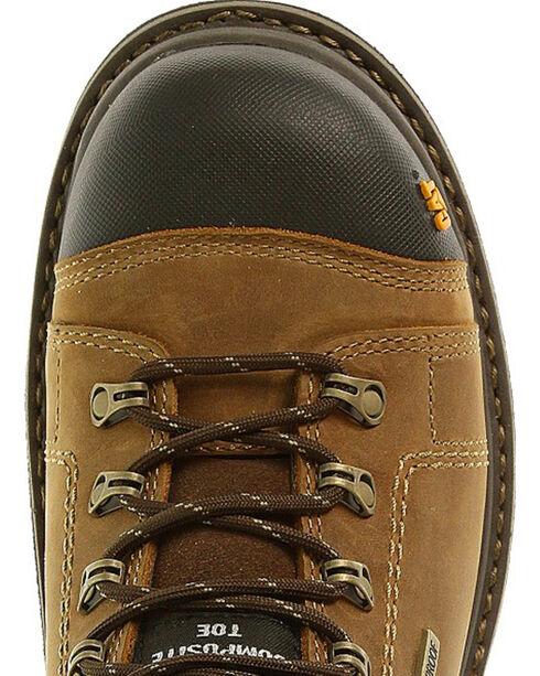 """Caterpillar Men's Hauler 6"""" Waterproof Work Boots - Composite Toe, Light Brown, hi-res"""