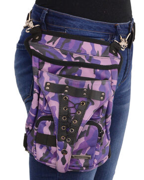 Milwaukee Leather Conceal & Carry Waist Belt Thigh Bag, Camouflage, hi-res