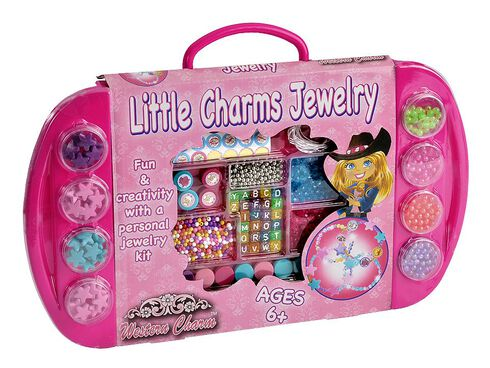 Little Charms Jewelry Set, Pink, hi-res