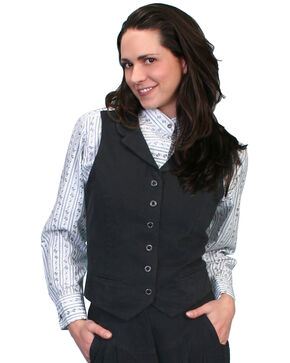 Rangewear by Scully Brushed Twill Vest, Black, hi-res