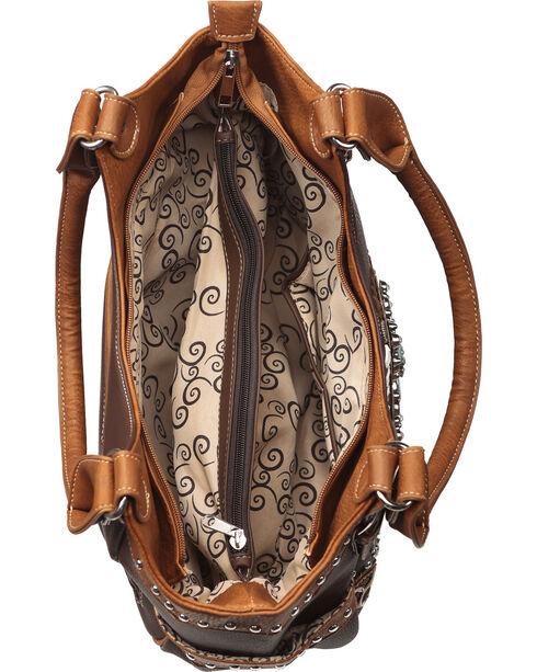 Wear N.E. Wear Women's Turquoise Cross Double Strap Handbag, Brown, hi-res