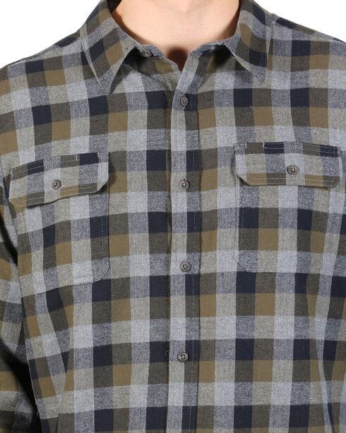 American Worker Men's Plaid Tasked Flannel Shirt , Olive, hi-res