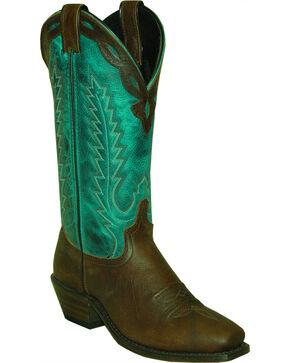 Abilene Women's Antiqued Cowhide Western Boots - Square Toe, Russett, hi-res