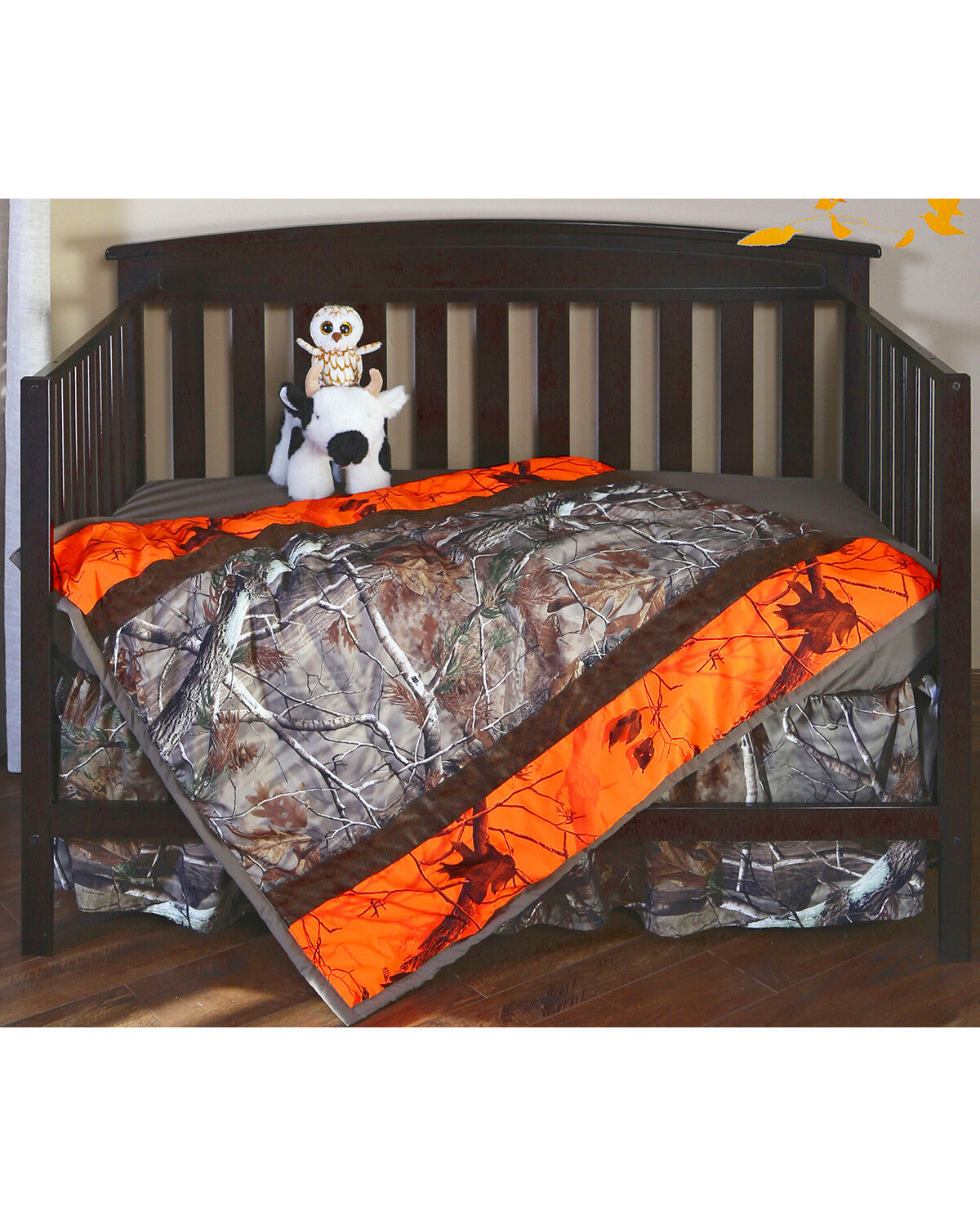 Carstens Realtree AP U0026 AP Blaze Camo Crib Set   3 Piece , Orange, Hi