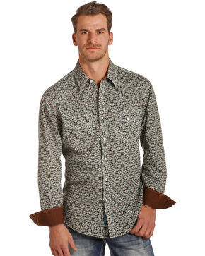 Rock & Roll Cowboy Men's Poplin Foulard Print Shirt , Multi, hi-res
