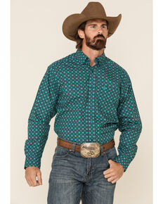 Ariat Women's Ohara Geo Print Long Sleeve Western Shirt , Multi, hi-res