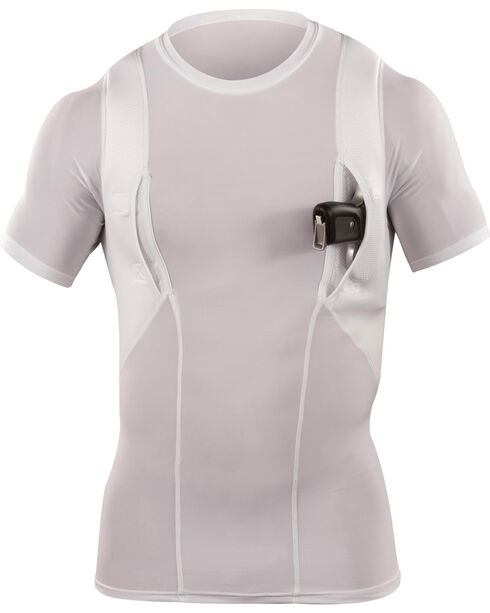 5.11 Tactical Crew Neck Holster Shirt, White, hi-res