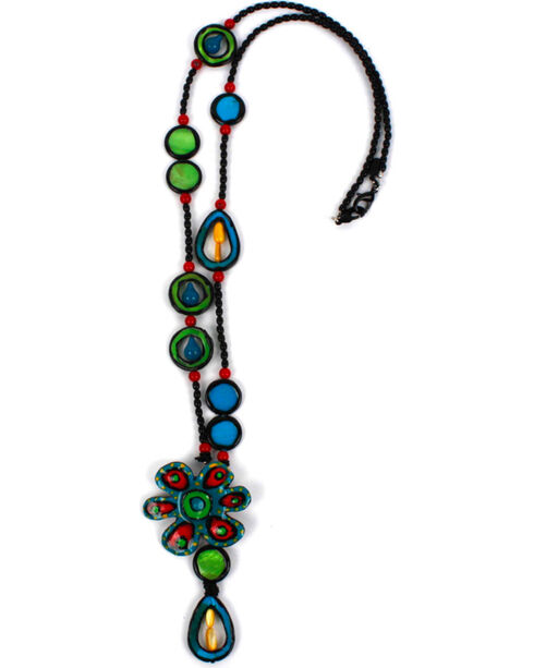 Treska Women's Beaded Pendant Necklace, Black, hi-res