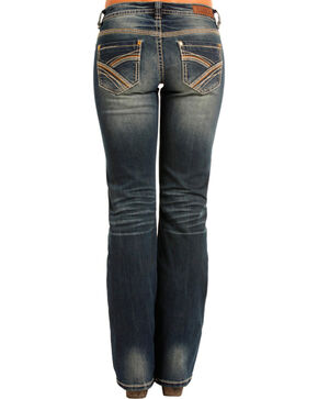 Rock & Roll Cowgirl Women's Mid Rise Riding Jeans - Boot Cut , Blue, hi-res