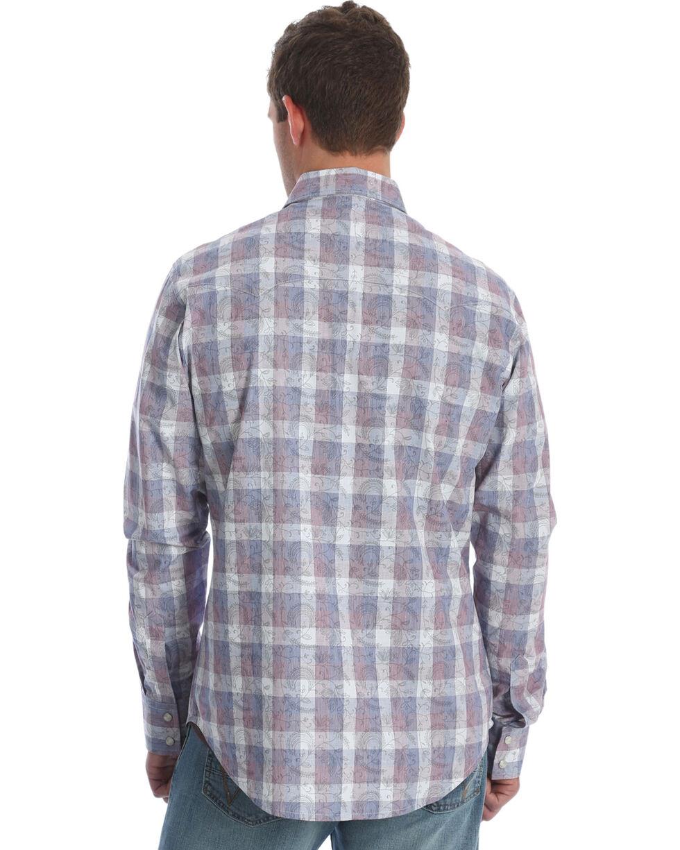 Wrangler Men's Navy Retro Premium Western Shirt - Tall, Navy, hi-res