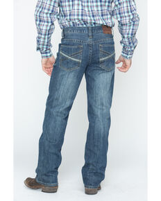 Cody James Men's Dark Wash Slim Bootcut Jeans , Blue, hi-res