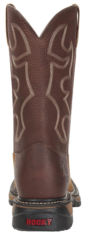 Rocky Men's Original Ride Steel Toe Western Boots, Brown, hi-res