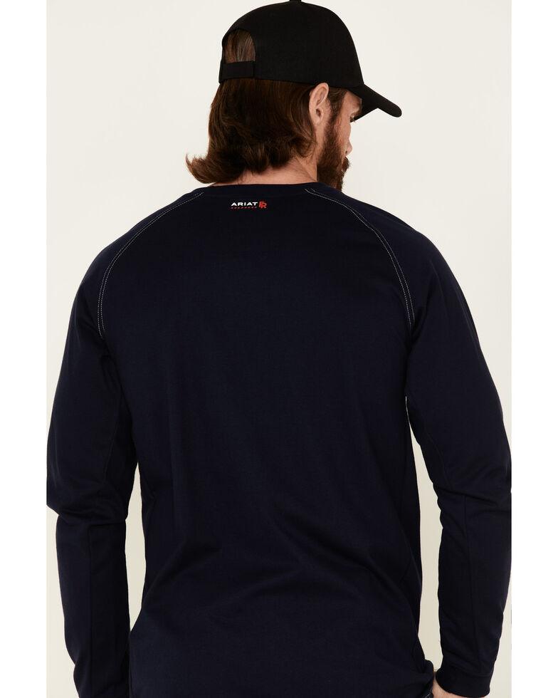 Ariat Flame Resistant Crew Work Shirt, Navy, hi-res