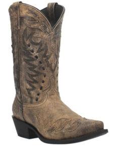 Laredo Men's Orel Western Boots - Snip Toe, Charcoal, hi-res