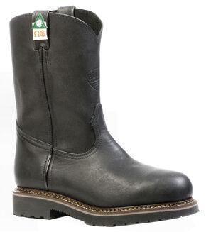 Boulet Men's Everest Black Work Boots - Steel Toe, Black, hi-res