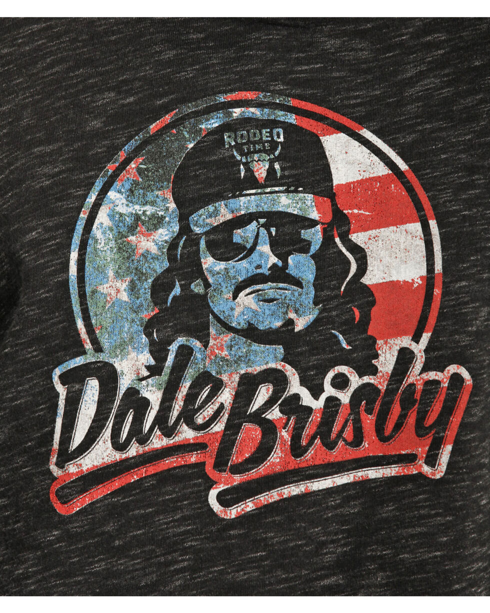 Dale Brisby Men's Black Patriotic Hoodie , Black, hi-res