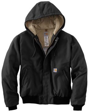 Carhartt Flame-Resistant Duck Active Hooded Jacket, Black, hi-res