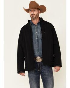 Cody James Core Men's Jet Black Steamboat Zip-Front Softshell Jacket - Big & Tall , Black, hi-res