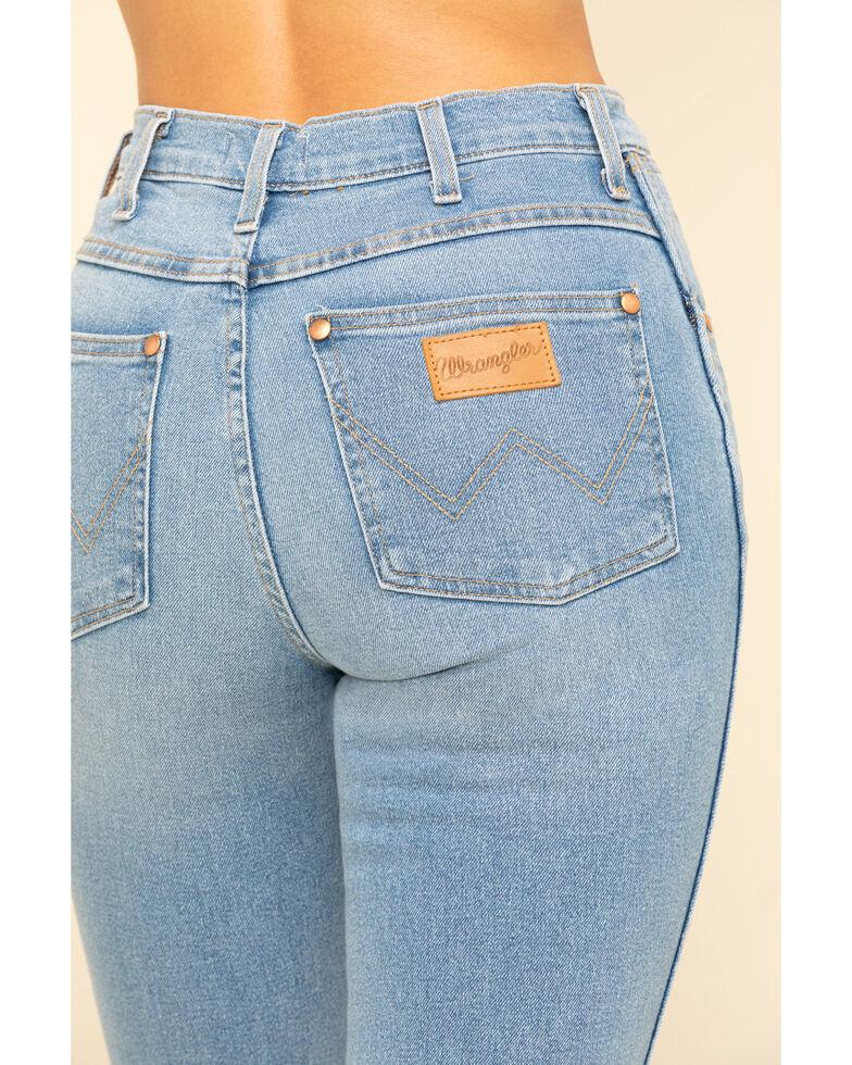Wrangler Modern Women's Light Vintage Heritage Straight Jeans , Blue, hi-res