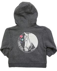 50abee539 Farm Girl Toddler Girls Western Zip Hoodie Sweatshirt, Grey, hi-res