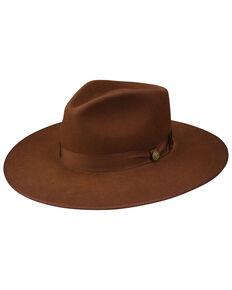 Stetson Cognac Midtown Wool Felt Western Hat , Cognac, hi-res