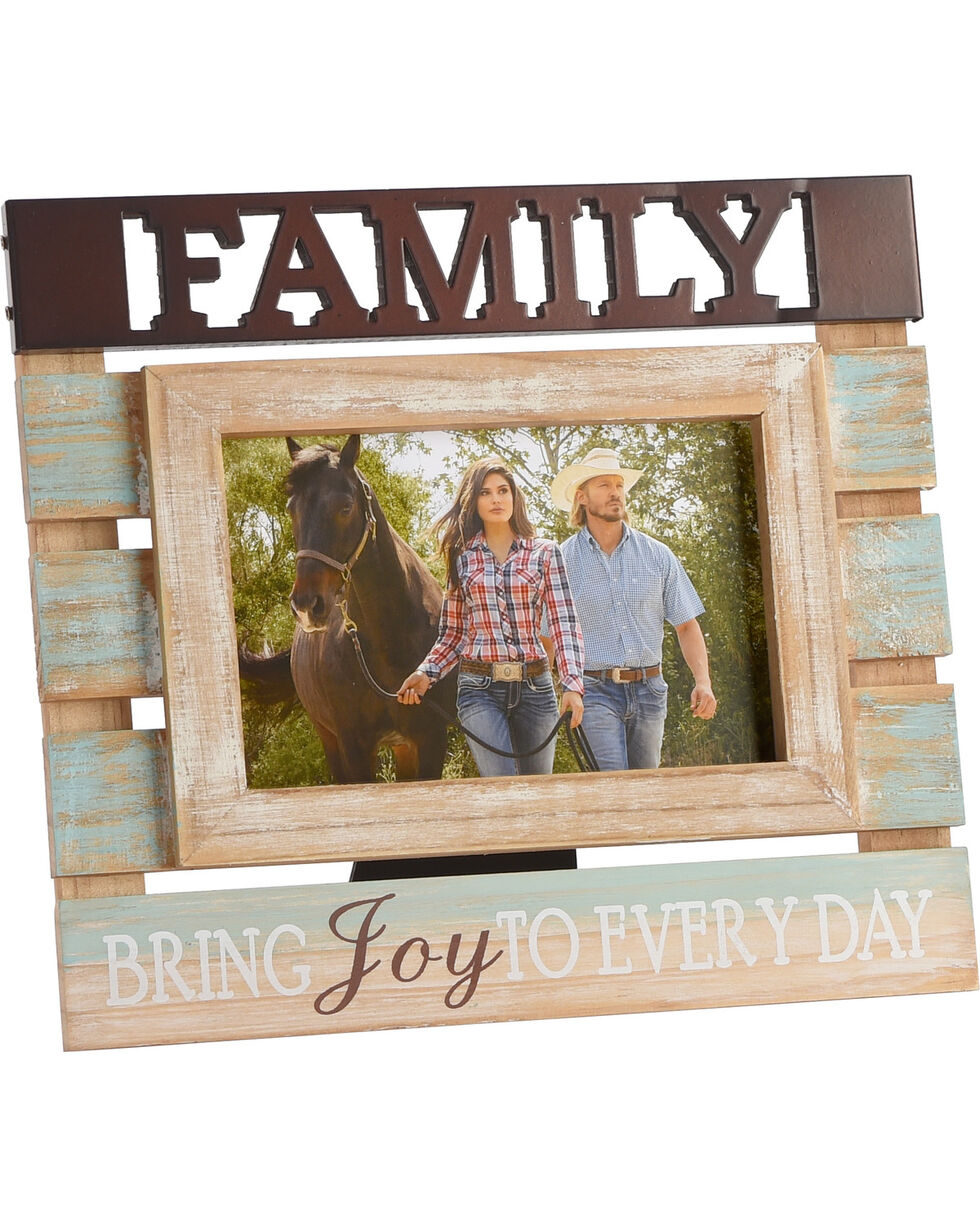BB Ranch Rustic Family Photo Frame, No Color, hi-res