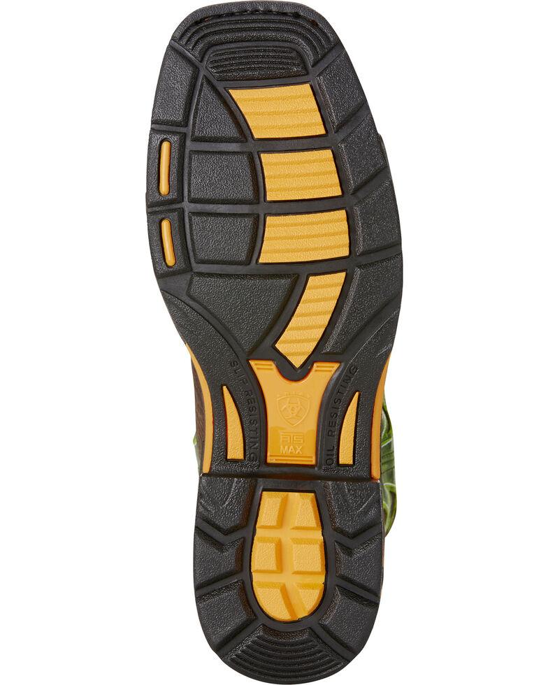 Ariat Men's Brown Workhog VentTek Work Boots - Square Toe, Brown, hi-res