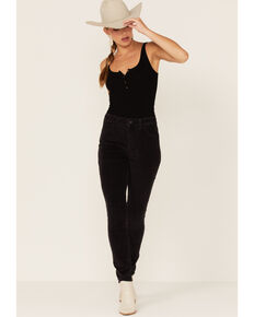 Levi's Women's 721 High-Rise Corduroy Skinny Jeans, Black, hi-res
