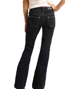 Rock & Roll Denim Girls' Basic Trouser Jeans, Blue, hi-res