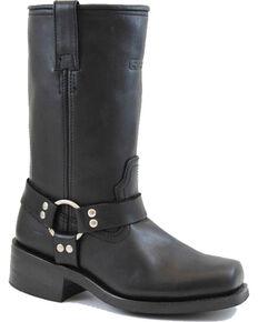 """Ad Tec Men's Harness 13"""" Motorcycle Boots - Square Toe, Black, hi-res"""