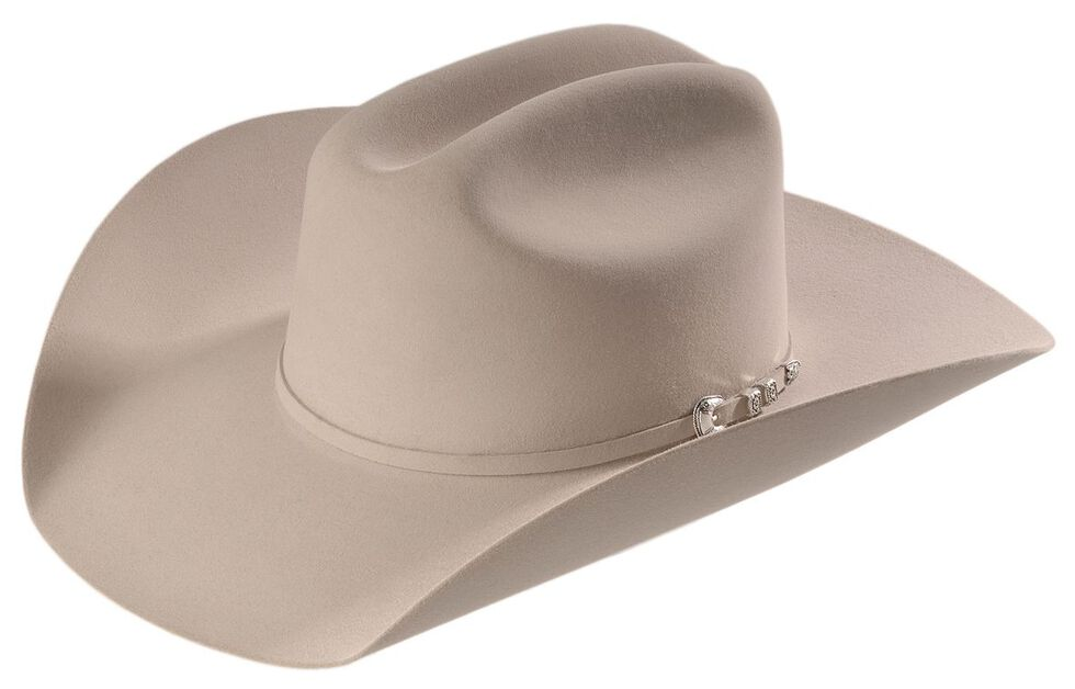 Stetson 6X Bar None Fur Felt Western Hat, Silverbelly, hi-res