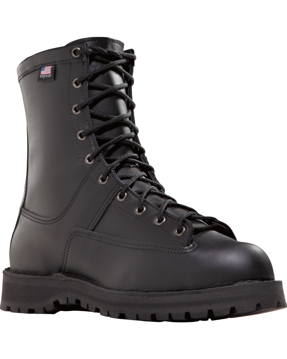 "Danner Men's Black Recon 8"" Uniform Boots - Round Toe , Black, hi-res"