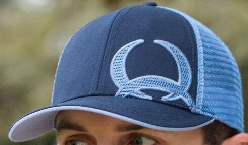 Cinch Men's Blue Logo Trucker Baseball Cap, Blue, hi-res