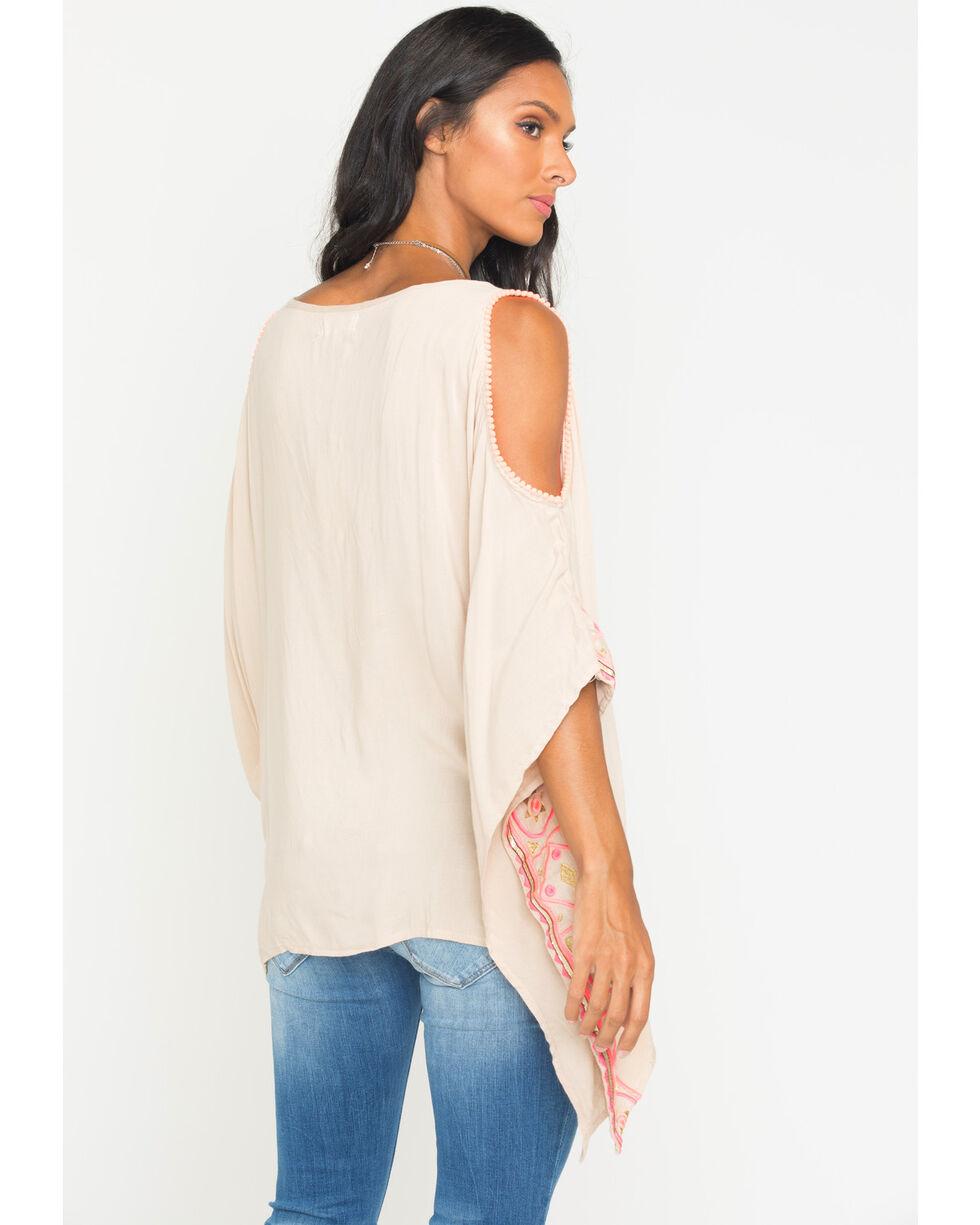 Freeway Apparel Women's Cold Shoulder Tunic , Beige/khaki, hi-res