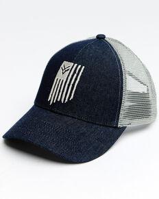 Hawx Men's Flag Logo Mesh Cap , Blue, hi-res